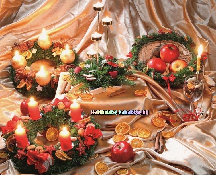 Рождественский венок - подсвечник своими руками (6)