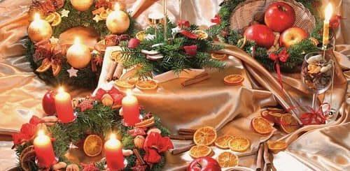 Рождественский венок - подсвечник своими руками