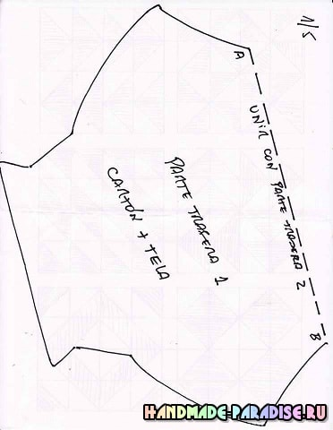 Санта Клаус - подвеска из картона и ткани (3)