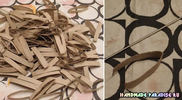 Абажур из рулонов от туалетной бумаги (5)