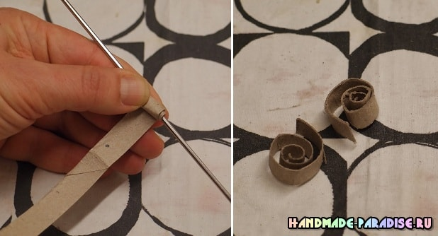 Абажур из рулонов от туалетной бумаги (6)