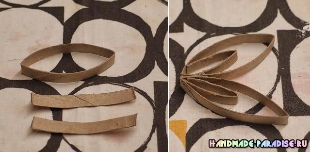 Абажур из рулонов от туалетной бумаги (7)