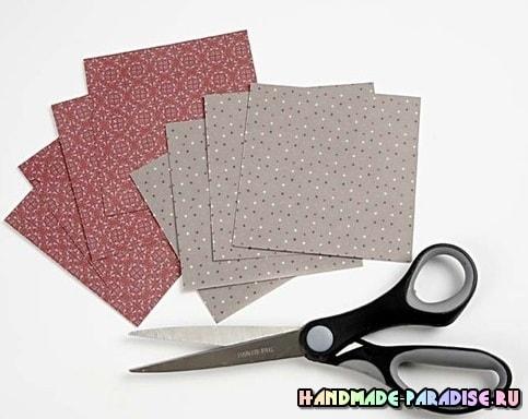 Бумажные звезды - подвески в технике оригами