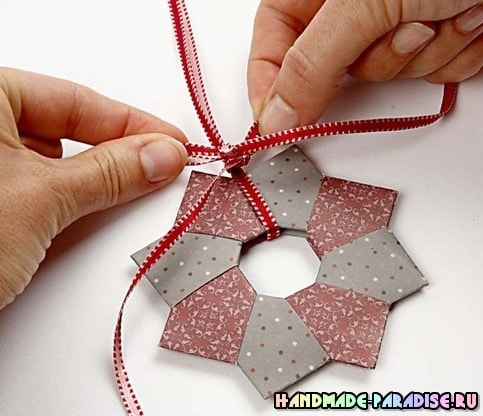 Звезды - подвески из бумаги в технике оригами (10)