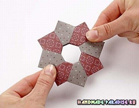 Звезды - подвески из бумаги в технике оригами (9)