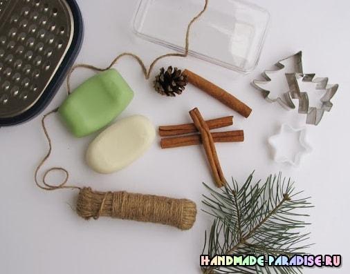 Елочки из мыла - новогодний подарок своими руками