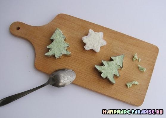 Елочки из мыла - новогодний подарок своими руками (5)
