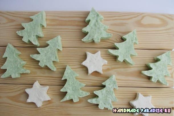 Елочки из мыла - новогодний подарок своими руками (6)