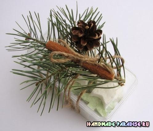 Елочки из мыла - новогодний подарок своими руками (7)