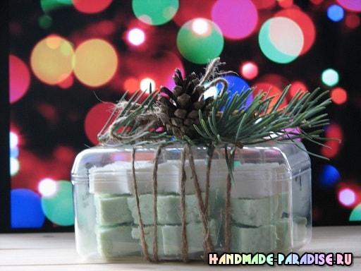 Елочки из мыла - новогодний подарок своими руками (8)