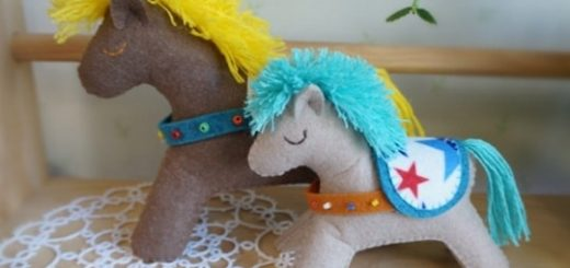 Как сшить лошадку из фетра