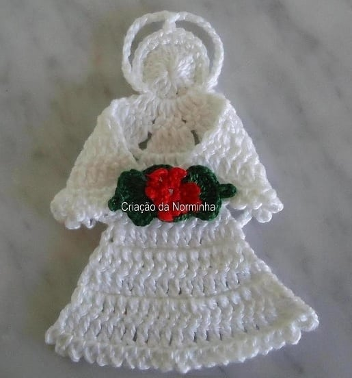 Кайма с ангелами для обвязки крючком (4)