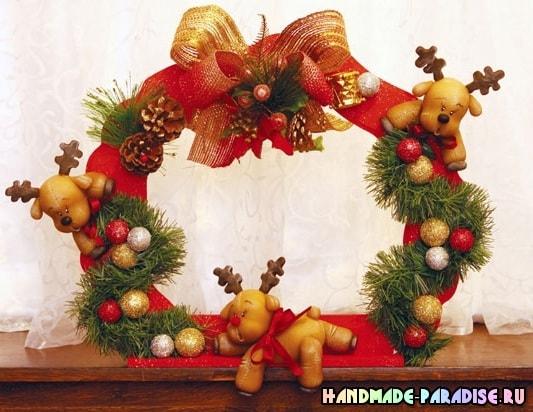 Лепка рождественского оленя. Мастер-класс