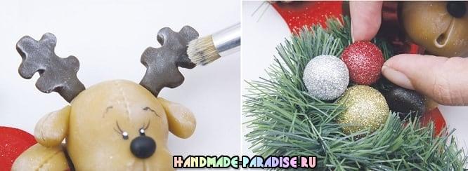 Лепка рождественского оленя. Мастер-класс (11)