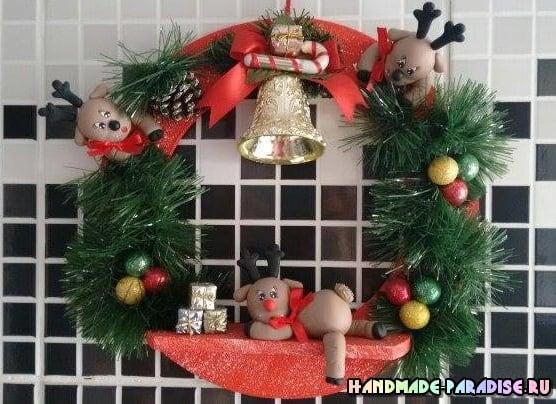 Лепка рождественского оленя. Мастер-класс (14)