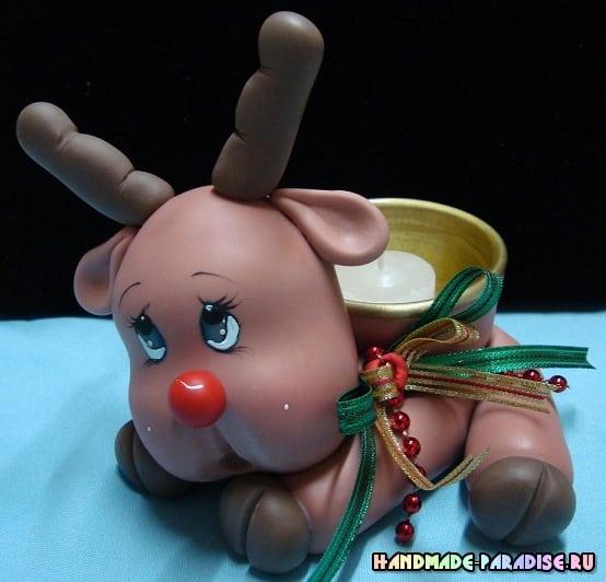 Лепка рождественского оленя. Мастер-класс (17)