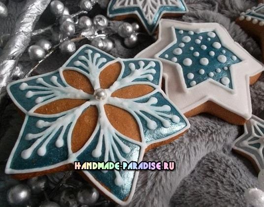 Новогодние пряники с росписью глазурью (2)