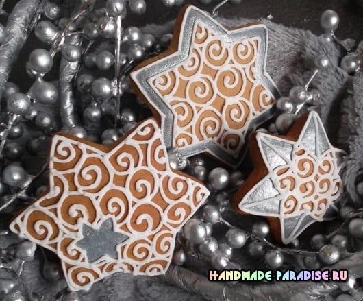 Новогодние пряники с росписью глазурью (7)