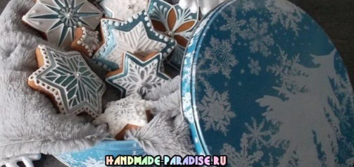 Новогодние пряники с росписью глазурью