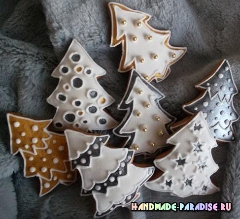 Новогодние пряники с росписью глазурью (9)