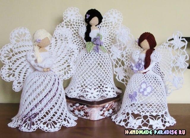 Рождественские ажурные ангелы крючком. Идеи (2)