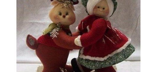 Рождественские олени. Выкройки текстильных игрушек