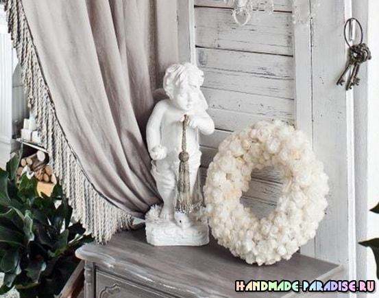 Винтажный венок с розами из кальки (15)