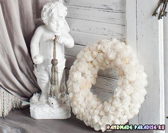 Розы из кальки с парафиновой обработкой (6)