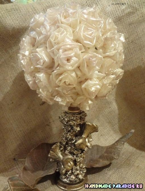 Розы из кальки с парафиновой обработкой (7)