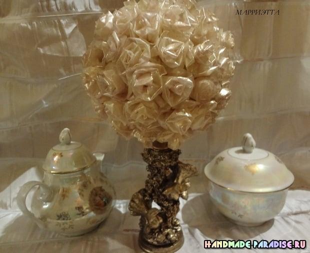 Розы из кальки с парафиновой обработкой (9)