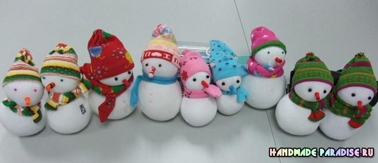 Снеговик из носков. Мастер-классы (4)