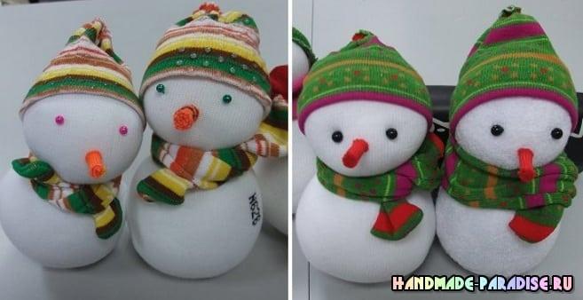 Снеговик из носков. Мастер-классы (5)