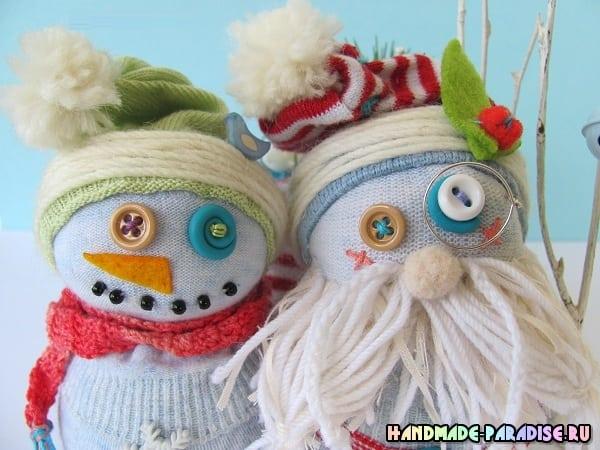 Снеговик из носков. Мастер-классы (7)