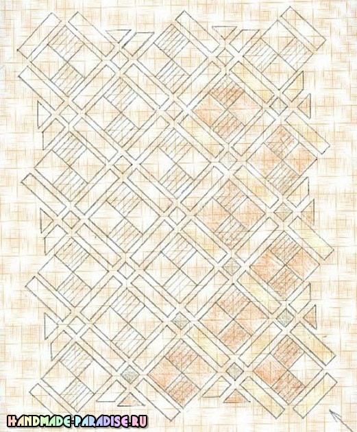 Как сшить теплое одеяло в технике пэчворк (11)