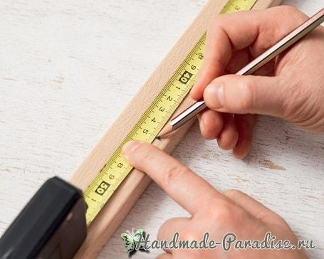 Деревянный радужный коврик своими руками (2)