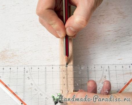 Деревянный радужный коврик своими руками (5)