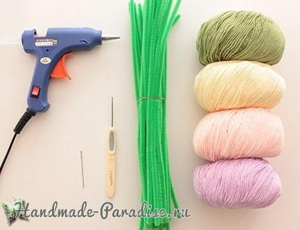 Необходимые материалы для вязания гиацинта