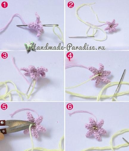 Как связать крючком гиацинт (6)