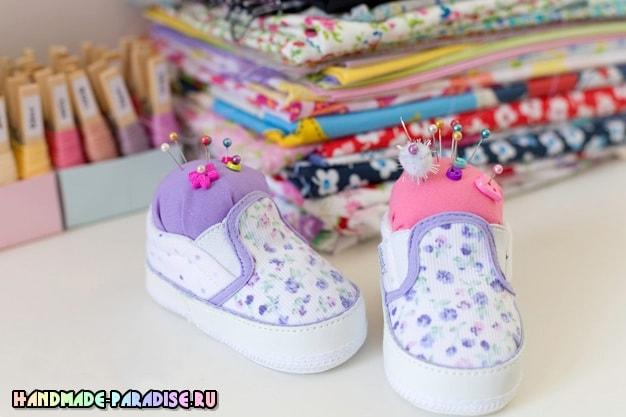 Игольница из детской обуви - полезность и память (5)