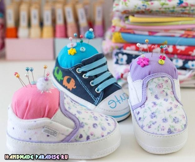 Игольница из детской обуви - полезность и память (6)