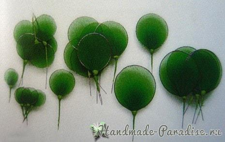Ипомея - цветок утренней зари из капрона (10)