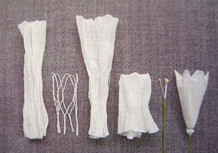 Ипомея - цветок утренней зари из капрона (2)
