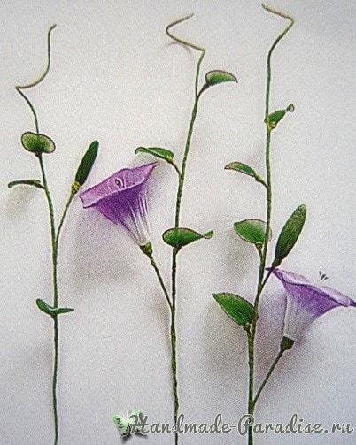 Ипомея - цветок утренней зари из капрона (6)