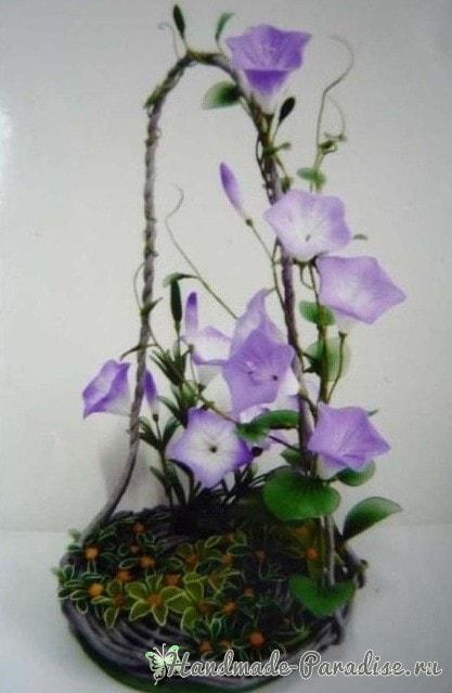 Ипомея - цветок утренней зари из капрона (7)