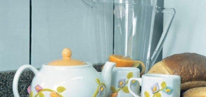 Как декорировать чайную посуду лепкой