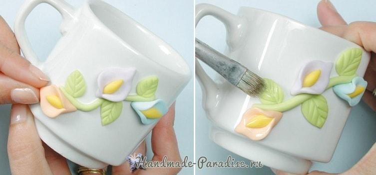 Декорирование чайной посуды лепкой (6)
