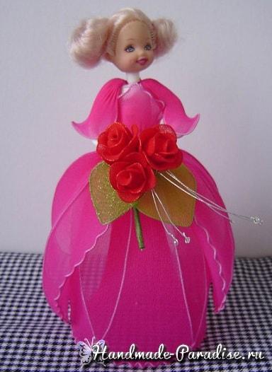 Как сделать куклу из капрона на проволочном каркасе (3)