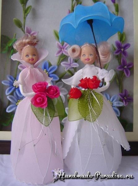 Как сделать куклу из капрона на проволочном каркасе (4)