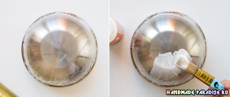 Декоративные вазочки из вязаных салфеток (4)