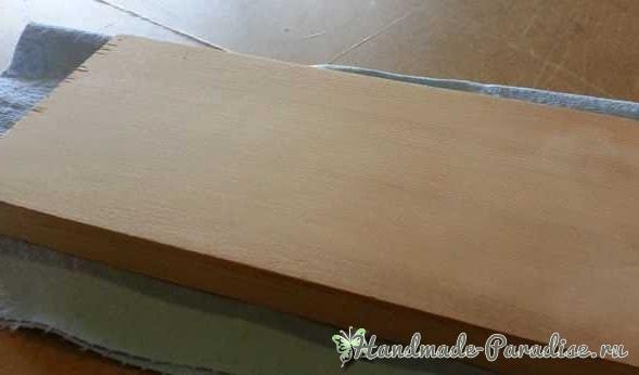 Убираемь вмятину с деревянной поверхности